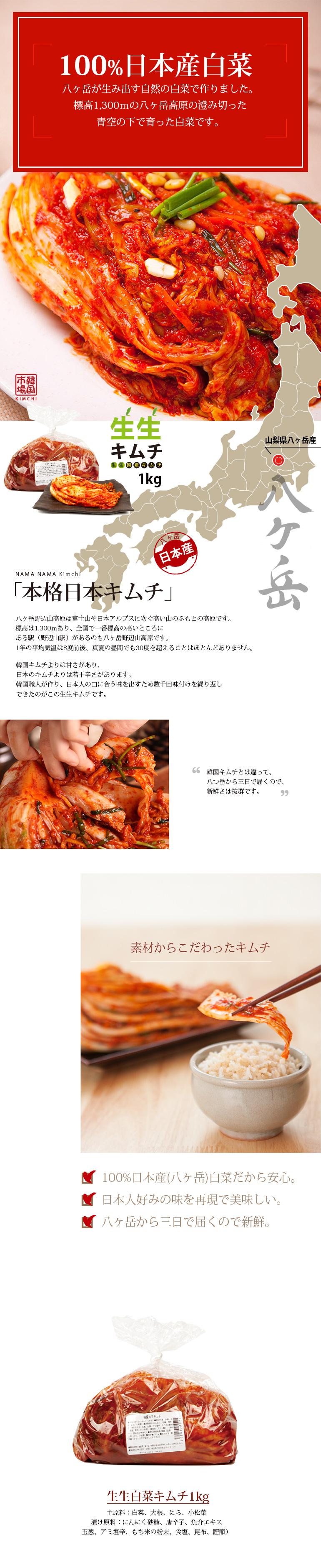 日本産キムチ,白菜キムチ,キムチ