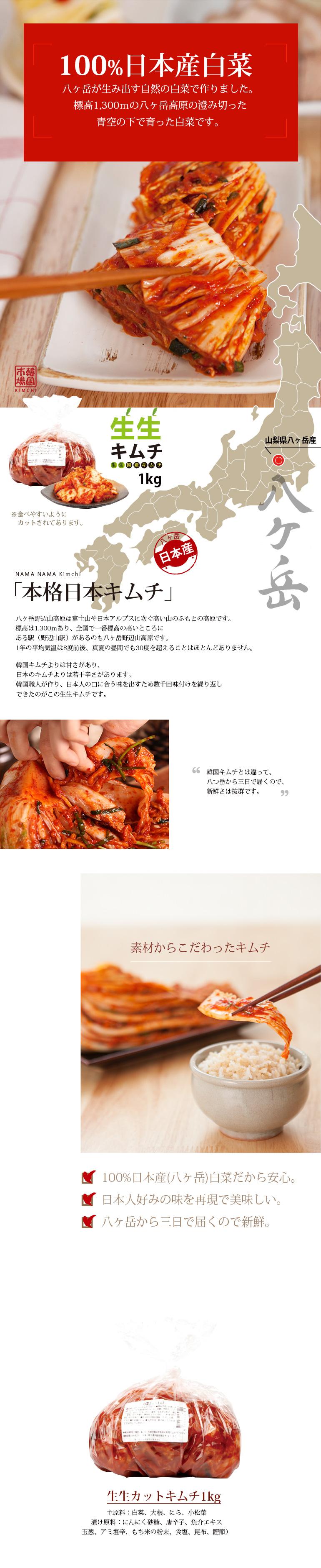 日本産キムチ,白菜キムチ,カットキムチ,キムチ