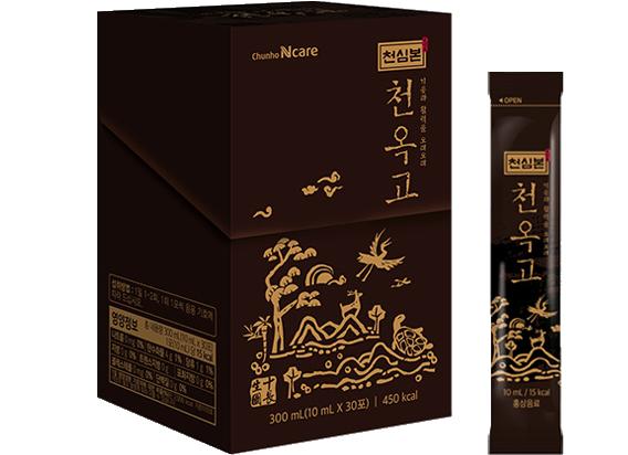 泉心本・[天玉膏]紅参液スティック10ml×30包