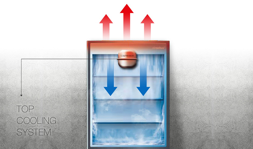 キムチ冷蔵庫のオリジナルトップクーリングシステム