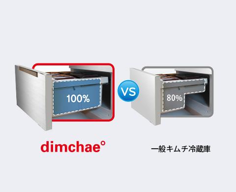 キムチ冷蔵庫の100%活用可能な引き出し